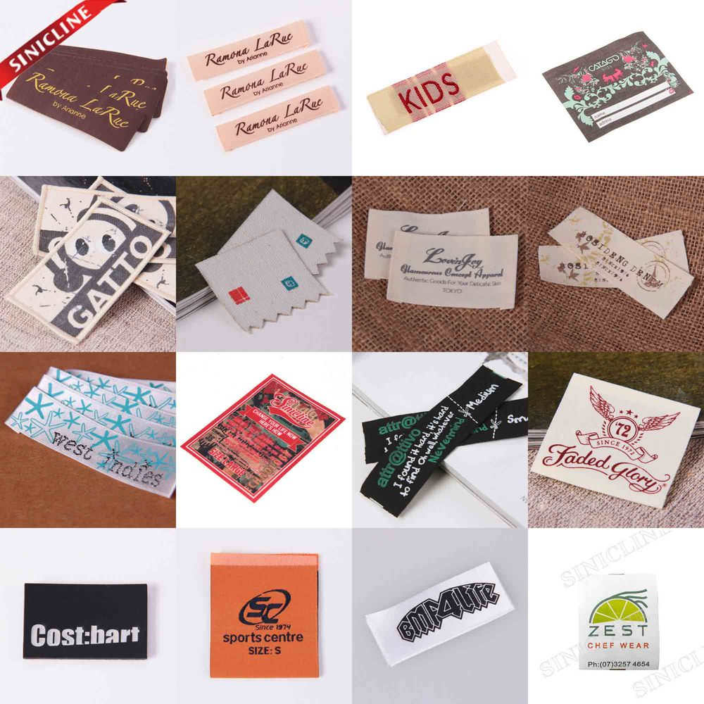 Factory price high density woven label, clothings label for garment