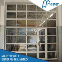 Automatic Transparent Glass Panel Garage Door