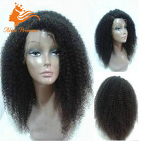Glueless Full Lace Wig 150 Density Virgin Malaysian Curly Human Hair Wigs For Black Women With Baby Hair