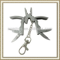 Stainless Steel Mini Folding 5-1 Multi function Hand Tool, Pocket Key Chain Plier