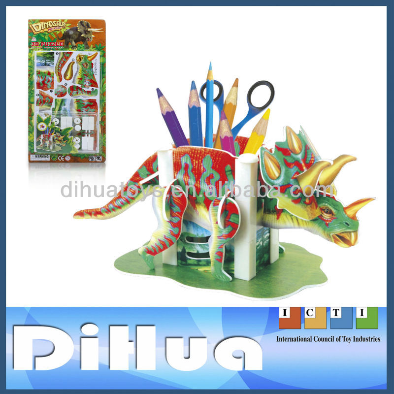 Children's Foam Pen Holder 3D Dinosaur Puzzle