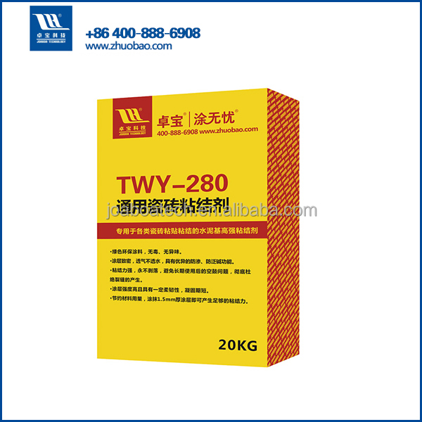 tile fixing adhesive for exterior cladding