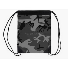 Promotion Heavy Duty Universal Camo Pattern Nylon Drawstring Bag