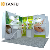 TANFU Tradeshow Display booth with Customized Graphics and Variable Layout