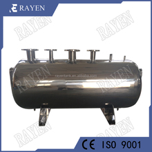 sanitary stainless water pressure tank horizontal reactor