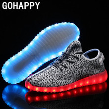 Led 7 colors Light shoes for adult Men Flat Casual Shoes 2016 New female shoes that light up Plus Size 35-46 chaussure femme