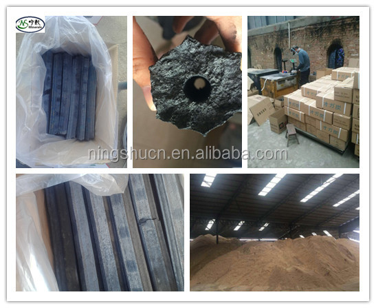 Machine made charcoal Sawdust briquette charcoal exported to Malaysia, Korea, Japan market