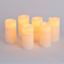 LED Wick Candle Set Color Changing Flameless Wax Moving Wick Led Candle
