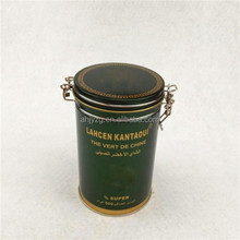 cylinder biscuit packing tea box in metal tin with direct supply