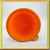 eco friendly collapsible portable foldable silicone pet dog bowl
