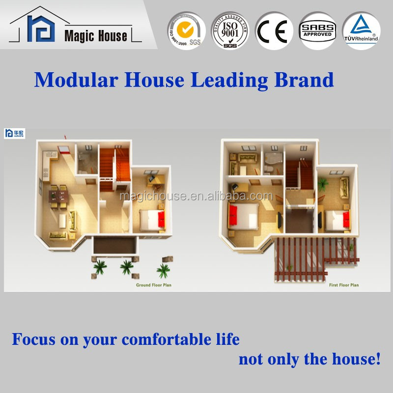 finished prefab house/luxury container house mobile restaurant/Prefab homes light steel frame structure