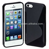 "S-Line Back Case Flexible TPU Cover Case for iphone 5 5"" 5g"