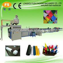Specrigid polyurethane foam spray pe foam filled polyethylene pipe coated insulated piping PE foam noodle extrusion machine line