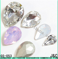 drop shaped crystal decorative glass beads
