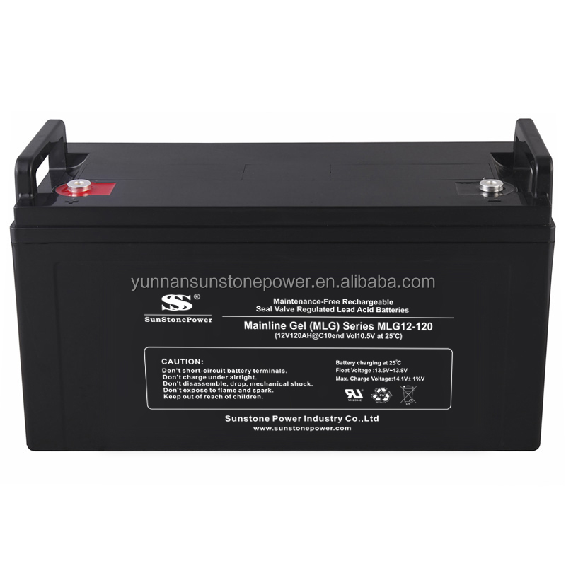Sunstone High Performance Solar Battery 12V 120AH Long Life Deep Cycle Solar Battery GEL Type for Off Grid Power System