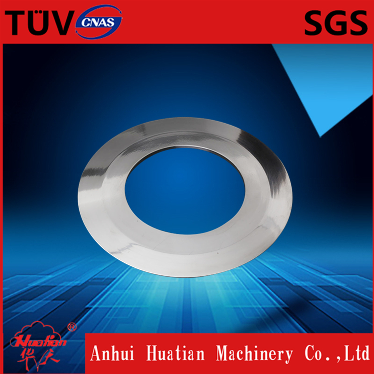 Rolling shear blades in coil steel sheet slitting