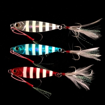 20g30g 40g 60g deep sea metal jig lead jig multi colors fishing lure metal bait jigging lure with tails