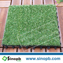 Outdoor Grass Like Artificial Turf Artificial Grass Tile Pad Plastic
