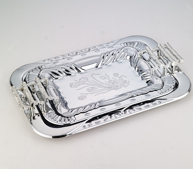 silver plated trays rectangular trays for restaurant banquet hotel