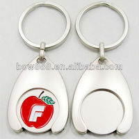 Metal coin holder keychains
