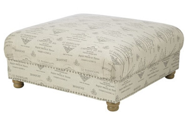 Mrs Woods Elegant Design French Anqtique Ottoman