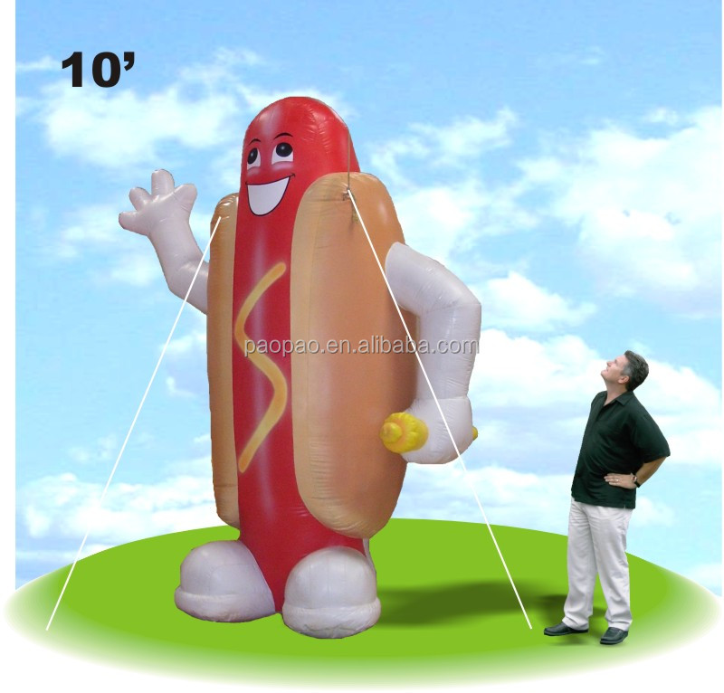 inflatable hot dog giant inflatable hotdog balloon for sale inflatable mascot for advertising