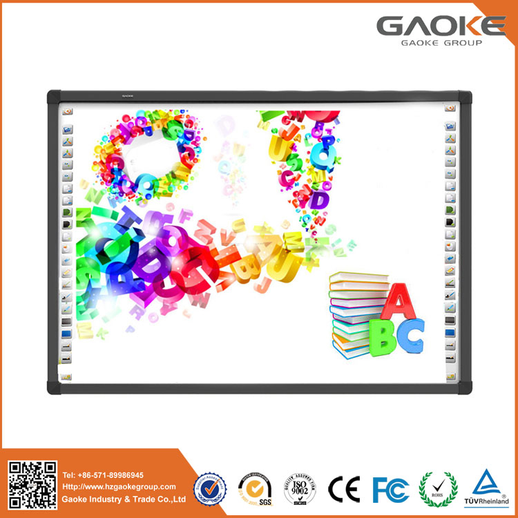 Free standing low consumption magnetic interactive whiteboard