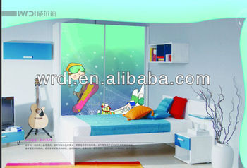 cartoon painting board for wardrobe