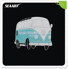 Bus Embroidered Patch Hot Fix Wholesale For Clothing