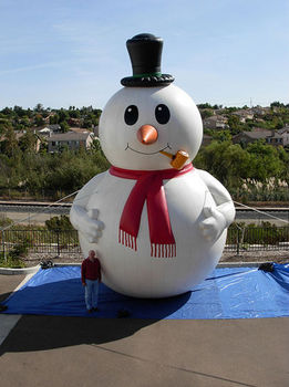 lovely inflatable christmas snowman for christmas decoration with hat - Huge Inflatable Christmas Decorations