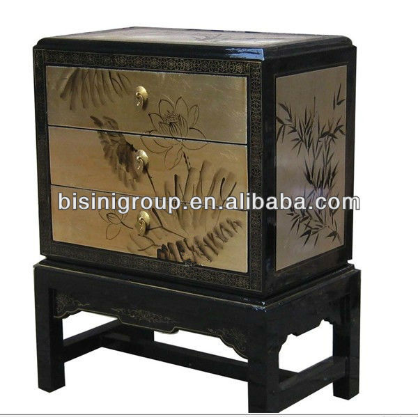 Elegant Antique Imitation lacquer nighstand/night table/bedside table BF06-1027