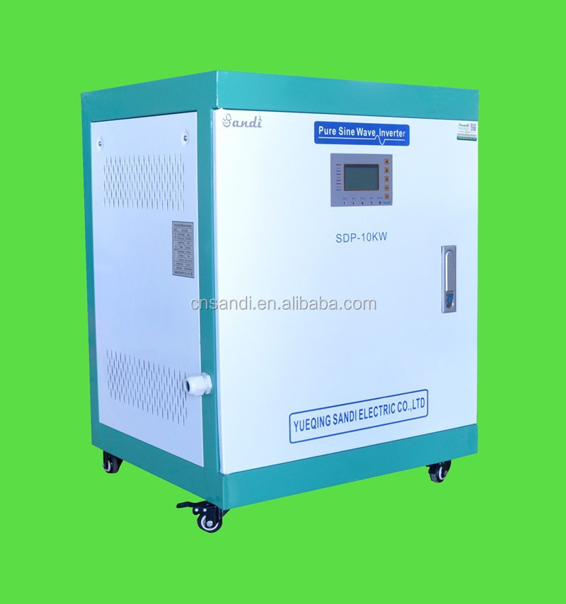 10KW off grid solar inverter with solar charge controller built in 3-phase 380V output