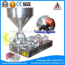 Low Price single head pneumatic with hopper paste filling machine good quality