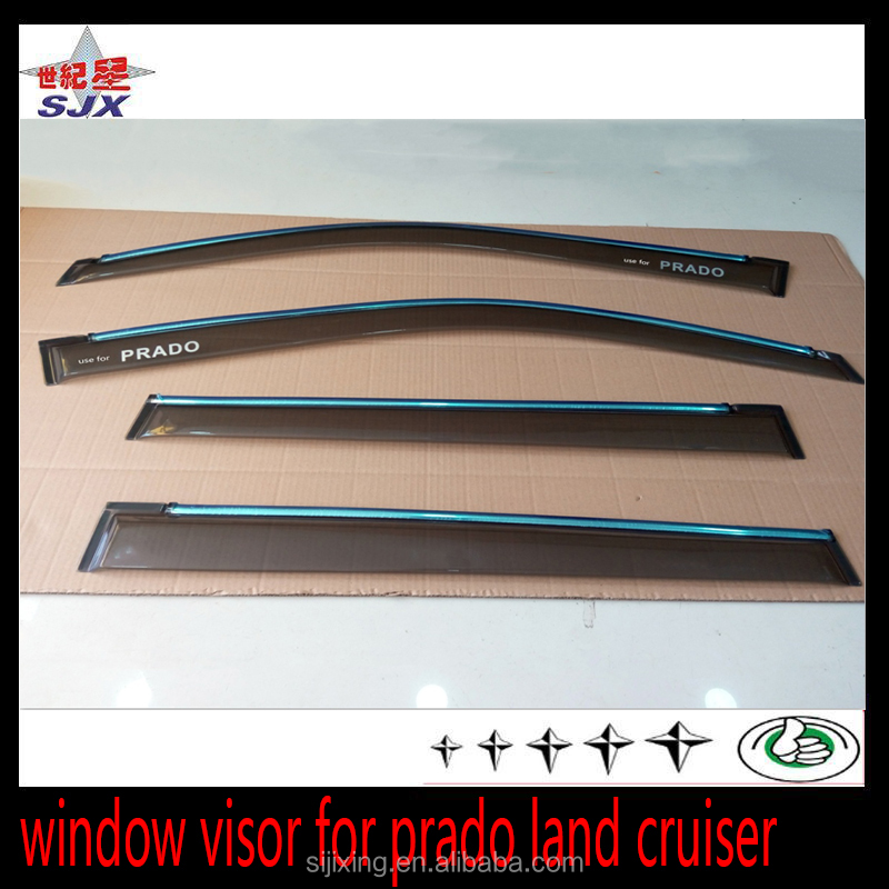 For toyota prado 2700 3400 car window visor side door rain deflector