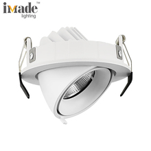 Gimbal 9w 3000k cob recessed downlight led ip44