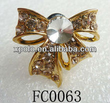 Korean Cute Crystal Bowknot Gold Plated 3.5MM Dust Proof Cap Plug For Phone Ear