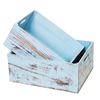 New handmade heavy-duty shabby chic blue rustic media wooden crate