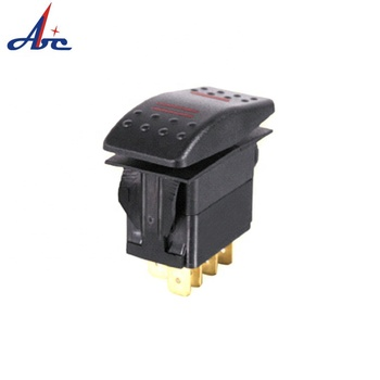 M05 (ON)-OFF-ON DPDT 7 terminal New LED ip68 on-off rocker switch