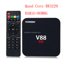 RK3229 Quad Core RAM1GB ROM8GB WIFI Media Player IPTV Smart Set Top BOX V88 Android 5.1 TV Box
