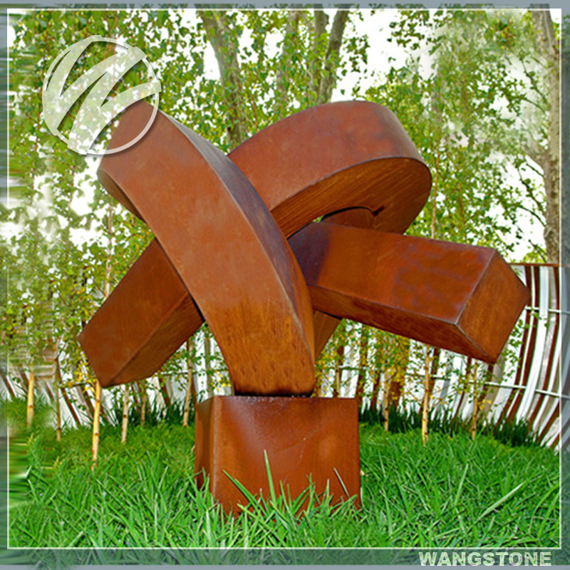 Abstract Contemporary Outdoor Garden Metal Sculpture