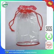 Hot new products small clear pvc drawstring pouches bag