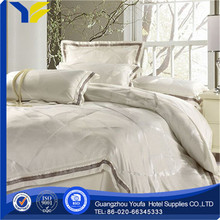 queen bed made in China polyester/cotton silky feel jacquard four poster bed sets
