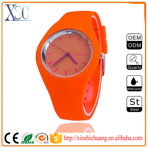 Wholesale q&q japan movt geneva wrist watch mens hand watch brand