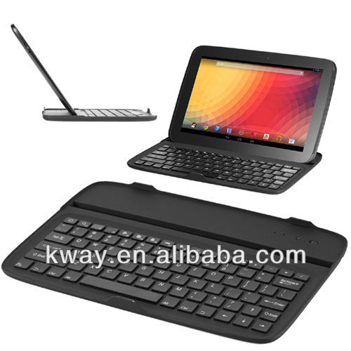 Aluminum Bluetooth Keyboard Case for Google Nexus 10 Keyboard