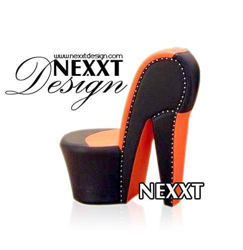 Alta zapatos tacon silla barroca marr n y naranja por for Zapatos para sillas