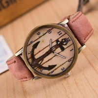High Quality 2016 New Style Vintage Fashion Cowboy Tower Flower Watch For Men Women