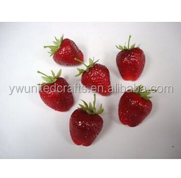 New Artificial Fruits 45mm 'Strawberries' Home Decoration Fake Fruit Realistic