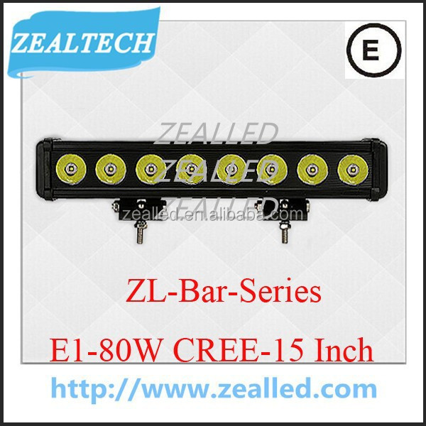 Bright light LED for car with competitive price 80W 15inch bar LED series E1driver working light for car