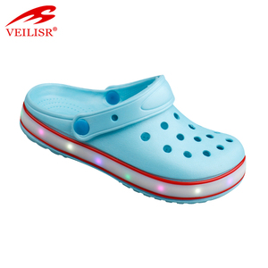 cheap wholesale led light eva garden kids clogs