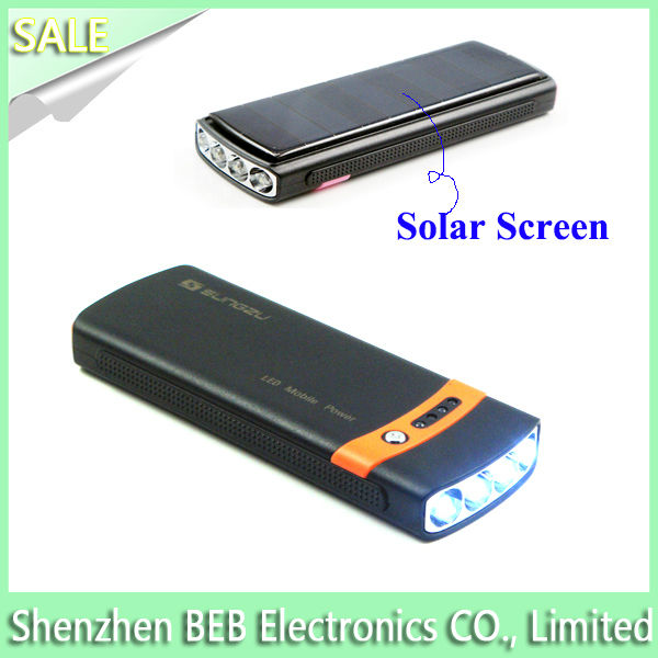 Marketable 2600mah portable mobile phone solar chargers